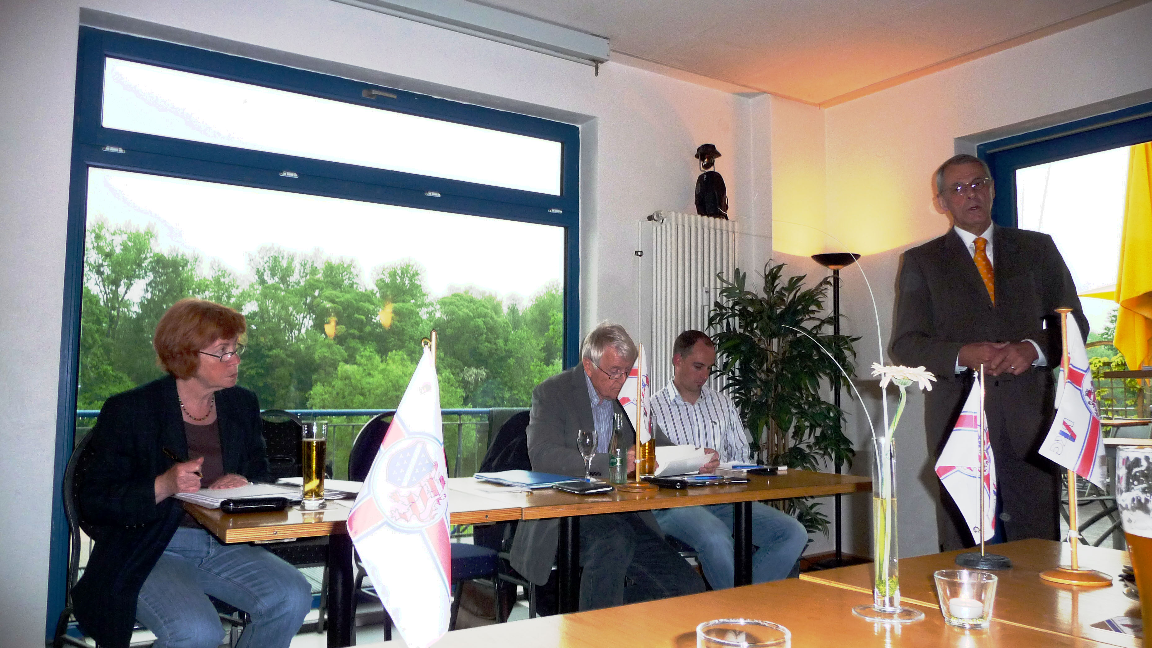 Mitgliederversammlung Vorstand Frank Oberbrunner, v.l. I.Wunderlich, Dr. R. Knauff, M. Feldmann