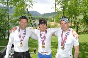 Glückliche Gesichter in Lauerz (Schweiz): Jens Gerlach (RV Cassel), Christian Ullrich, Maik Feldmann (beide RV Kurhessen-Cassel)