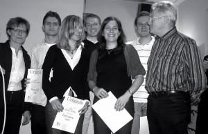 Erfolgreiche Ausbildung durch Jochen Meier, Überreichung der Urkunde