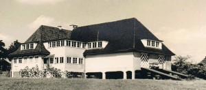 Das erweiterte Bootshaus im Jahr 1930