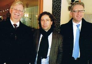 Dirk und Carsten Vogel mit Prof. Ehrhardt (Mitte)