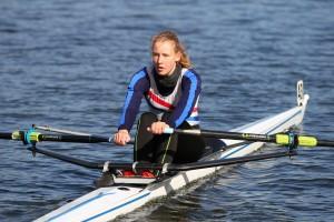 Athletin Friederike Reißig - Kleinbootrudern Duisburg (19.-21. April 2013)